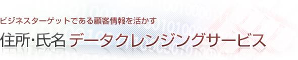 住所・氏名データクレンジングサービス